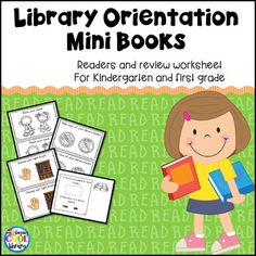 2 mini books (informational readers) to teach your primary students about t School Library Lessons, Library Skills, Kindergarten Library Lessons, Library Rules, Library Ideas, Library Orientation, Just Right Books, Information Literacy, Library Activities
