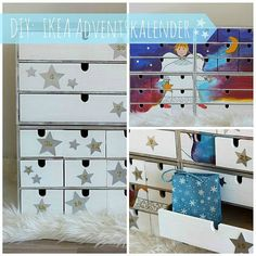 IKEA Moppe Adventskalender | The Golden Kitz Ikea Dresser Makeover, Makeup Makeover, Ikea Hack Bedroom, Makeup Storage, Decoration, Decoupage, Upcycle, Recycling, Countdown