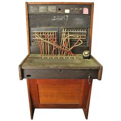 Vintage Western Electric Telephone Switchboard - Love this. http://www.1stdibs.com/furniture/more-furniture-collectibles/historical-memorabilia/