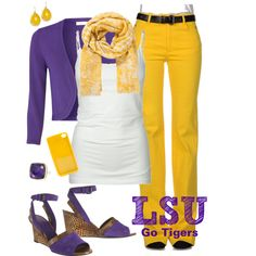 """""""LSU Gameday Outfit"""" by luckaty on Polyvore"""