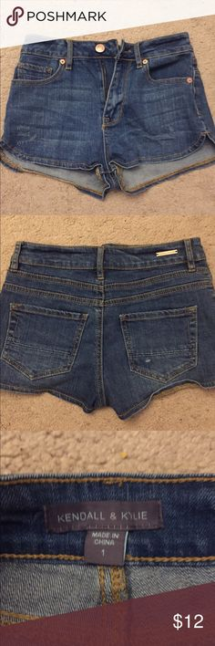 Kendall and Kylie high waisted shorts size 1 Kendall and Kylie high waisted shorts size 1. Only worn once. Too small. Excellent condition Kendall & Kylie Shorts Jean Shorts