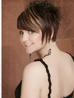 haircut gallery hairstyles back view length asymmetrical pixie 5284