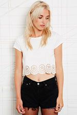 Pins & Needles Cutwork Hem Top at Urban Outfitters