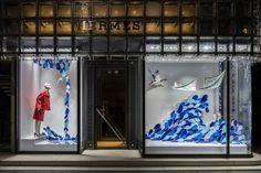 "HERMES,Ginza, Tokyo, Japan, ""Make a wave"", creative by Isabelle Daeron, pinned by Ton van der Veer"