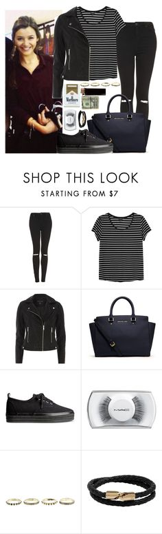 """""""Eleanor Calder"""" by veronicatomlinson ❤ liked on Polyvore featuring Topshop, Monki, Dorothy Perkins, MICHAEL Michael Kors, H&M, MAC Cosmetics and Mulberry"""