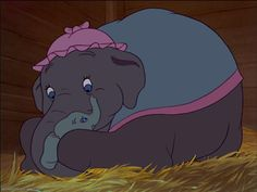 Jumbo and Dumbo for invitation Sad Disney, Disney Pixar Movies, Disney Cartoons, Disney Magic, Dumbo Disney, Dumbo Movie, Baby Mine, Disney Stars, Mickey And Friends