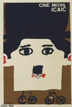 Mobile cinema - Eduardo Muñoz Bachs - 1969_cuban vintage poster