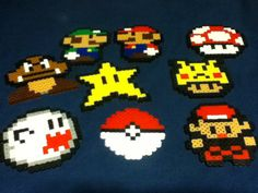 Perler bead crafts for the boys.  Christmas gift idea?