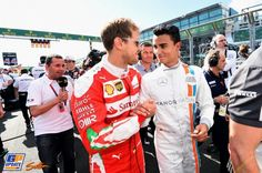 Sebastian Vettel, Pascal Wehrlein, Ferrari, Formule 1 Grand Prix van Australië 2016, Formule 1