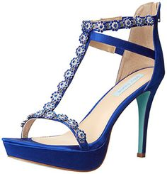 Blue by Betsey Johnson Womens SB Adore Dress Sandal Royal Blue Fabric 85 M US ** Click image to review more details.