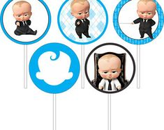 Boss Baby cupcake toppers, Boss Baby Birthday Party, Boss Baby Labels, Un jefe en pañales, Топперы д Baby Girl Cupcakes, Baby Shower Cupcake Toppers, Man Cupcakes, Baby Shower Cards, Baby Boy Shower, Baby Candy, Baby Invitations, Boss Baby, Baby First Birthday