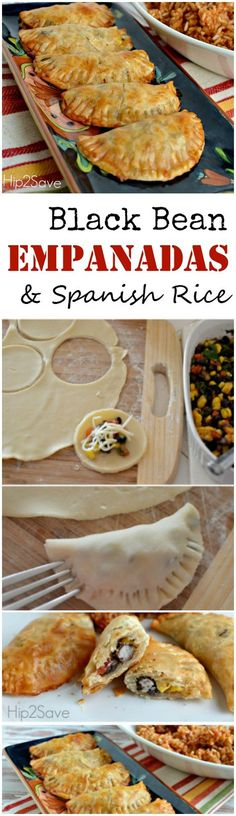 Black bean empanadas made with Spanish rice. This is a empanada recipe that you definitely want to check out.