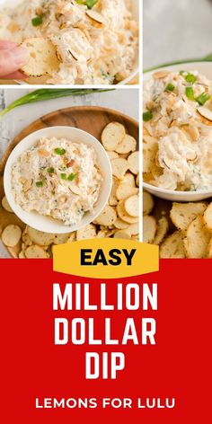 "With a name like ""million dollar dip"", you know this has to be good! This cheese dip has something for everyone, it is creamy, cheesy, loaded with bacon and even nuts…crunchy, salty, creamy, and delicious! Appetizer Dips, Everyday Food, Finger Foods, Bacon, Good Food, Food Porn, Dinner Recipes, Healthy Eating, Cooking Recipes"