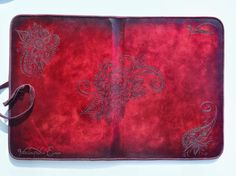 iPad Leather Case with Stand Fairy Flowers by HarrismaLeatherGoods, $63.98