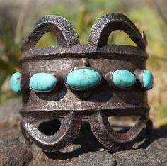 Southwest Navajo large cuff bracelet. $1,100.00, via Etsy.