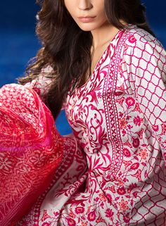 Buy Embroidered Cotton Lawn Dress by Sana Safinaz Eid Collection 2015.
