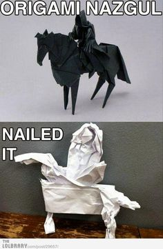 Origami Nazgul | LOTR Lord of the Rings
