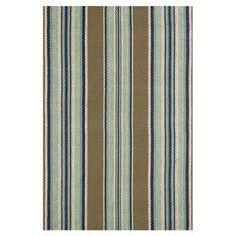 Hand-loomed cotton flatweave rug with multicolor stripes.  Product: RugConstruction Material: 100% CottonColor: MultiFeatures: Handmade Note: Please be aware that actual colors may vary from those shown on your screen. Accent rugs may also not show the entire pattern that the corresponding area rugs have.Cleaning and Care: Handwash gently in cold water