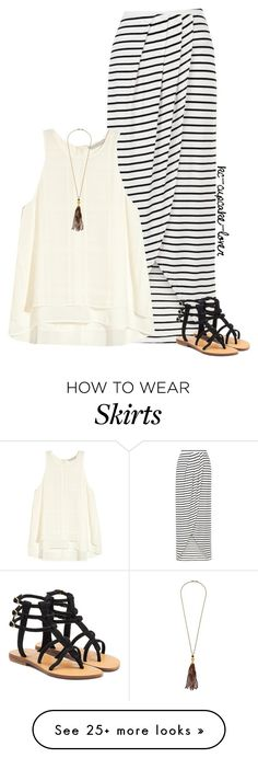 """""""Wrap Skirt"""" by kc-cupcake-lover on Polyvore featuring New Look, H&M, Kenneth Jay Lane and Mystique"""