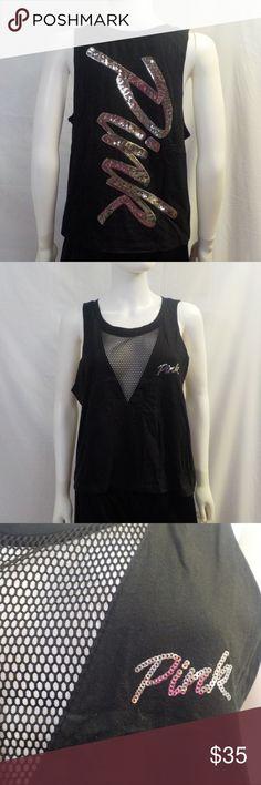 f771a76cd0c L PINK Victoria s Secret Sequins Logo Shirt NWT L PINK Victoria s Secret  Sequins Logo Shirt NWT