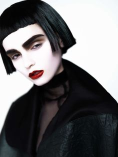 Rebellious Rainy Day Editorials : gothic makeup
