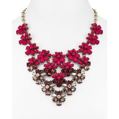 Baublebar Athena Bib Necklace, 15 (179.305 COP) ❤ liked on Polyvore featuring jewelry, necklaces, berry, berry jewelry, baublebar jewelry and bib necklace