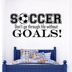 Sports Play Soccer Wall Art Decal Sticker