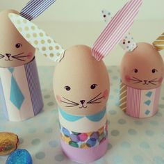washi tape Easter egg bunnies!