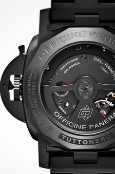 Officine Panerai Tuttonero Cool Watches, Watches For Men, Perpetual Motion, Panerai Watches, Watch Brands, Casio Watch, Luxury Watches, Matte Black, Lust