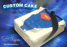 Its a bird, its a plane, its Superman! NO! Its a custom cake by Sugar! To make your very special #customcake call us on 022-26614708 today! #sugarthepatisserie #customcake #superman #yummyinmytummy