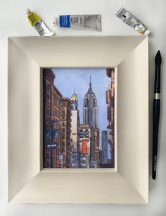 5x7 Print: View from 5th Ave NYC | Etsy New Print, Blue Bird, Colored Pencils, Cherry Blossom, Digital Prints, This Is Us, Nyc, Watercolor, Art Prints