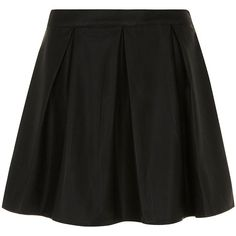 Dorothy Perkins Black leather look skater skirt ($27) ❤ liked on Polyvore featuring skirts, bottoms, saias, jupe, black, dorothy perkins, skater skirt, black circle skirt, faux leather skirt and flared skirt