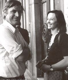 Ted Hughes with his second wife, Carol, in Italy, in the Seventies