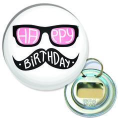 décapsuleur porte clés 56mm happy birthday : Porte clés par happymax