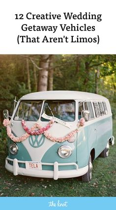 While stretch limousines​ make for fun wedding getaway vehicles, guess what else could too? A hot air balloon or a propeller jet, to start. Wedding Exits, Wedding Cars, Wedding Stuff, Wedding Transportation, Limo, Wedding Bells, Summer Wedding, Special Events, Wedding Inspiration