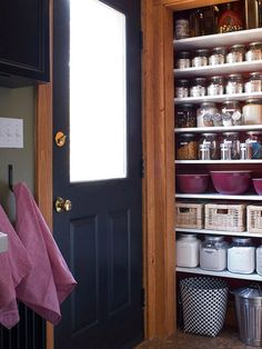 open pantry - just take down the door and get organized.