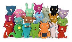 Gotta Love Uglydolls! I have 3! Big Toe (front row, 3rd from left), Bop N Beep (front row, 4th from left), and Ox: In purple, of course (2nd row, last one on the right)