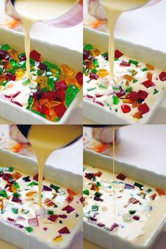 Dessert-Rezepte: 67 Quick Easy & Actually Delicious Dessert Recipe Ideas Your Fa . Jello Deserts, Jello Dessert Recipes, Gelatin Recipes, Köstliche Desserts, Delicious Desserts, Yogurt Jello Recipe, Jello Candy Recipe, Jello Pudding Recipes, Jello Gelatin