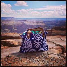 Stella & Dot How Does She Do It - Navy Ikat goes to the Grand Canyon.