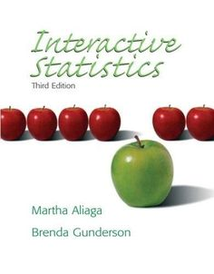 Instant downlaod and all chapters solutions manual statistics for interactive statistics 3rd edition fandeluxe Choice Image