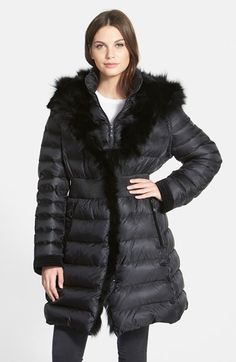Dawn Levy 'Donnie' Zip Sleeve Goose Down Coat with Genuine Fox Fur Trim available at #Nordstrom