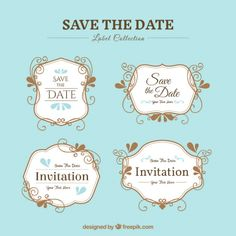 <a href='http://www.freepik.com/free-vector/pack-of-elegant-wedding-stickers_919107.htm'>Designed by Freepik</a>