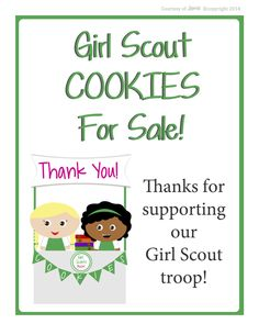 Girl Scouts - FREE Printable Cookie Booth Posters!!!
