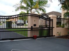 If you are currently facing any problem in maintaining your automatic gate system, then no worries. Here are a few tips which will help you in maintaining the gate system Fence Gate Design, Front Gate Design, House Gate Design, House Front Gate, Front Gates, Entrance Gates, Wrought Iron Driveway Gates, Metal Gates, Gate Lights
