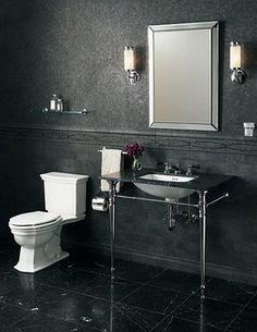 Ann Sacks - Adagio marble tile bathroom wall - mosaics starting at field tiles startin Marble Tile Bathroom, Bathroom Wall, Marble Mosaic, Bathroom Ideas, Honed Marble, Bathroom Inspiration, Marble Bath, Washroom, Bathroom Vanities