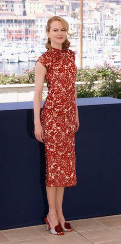 Nicole Kidman in a Red Qipao/Cheongsam