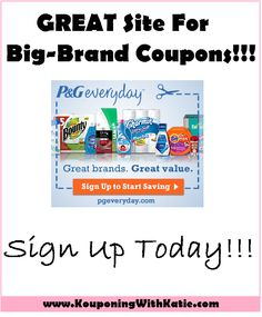 P&G Everyday: GREAT For Coupons and Samples!! | KouponingWithKatie