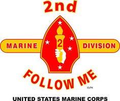 "2nd Marine Division "" Follow Me"" United States Marine Corps Shirt"