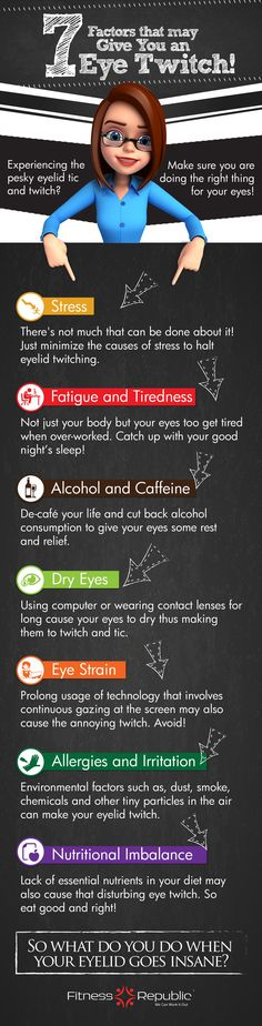 7 Factors that may Give You an Eye Twitch #Infographic #infografía