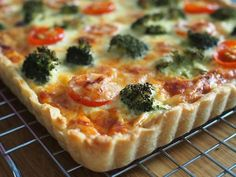 Healthy Cooking, Vegetable Pizza, Feta, Tart, Nom Nom, Good Food, Food And Drink, Snacks, Breakfast